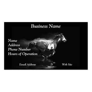 Western-style Galloping Pinto Horse and Smoke Double-Sided Standard Business Cards (Pack Of 100)