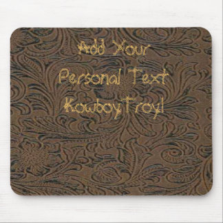 Western Style Leather Tool Print Design Mousepad