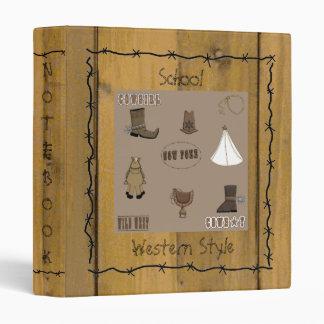 Western Style Lil' Cowpokes School Notebook Binder