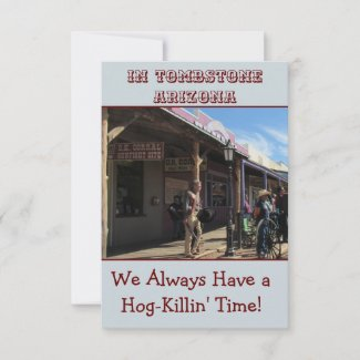 Western Style Note Card