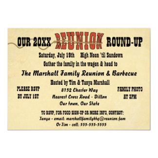 Western Style Reunion Invitation