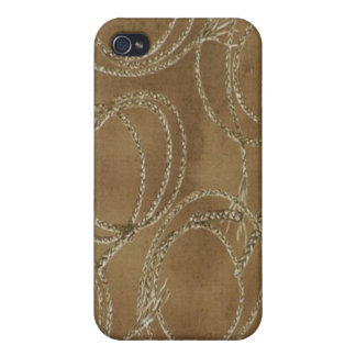 Western Style Rope Khaki Speck Case iPhone 4