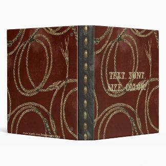 Western Style Rope Tool Leather Print Look Binder