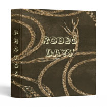 Western Style Rope W/Leather Look Print Binder