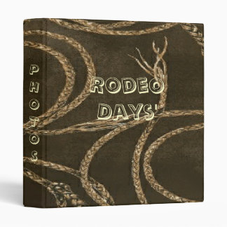 Western Style Rope W/Leather Look Print Binder