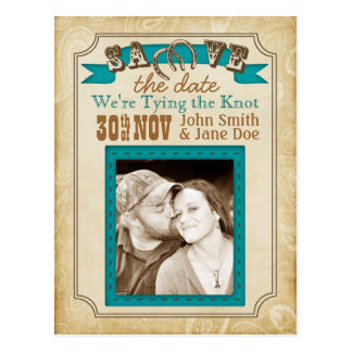 Western Style Save the Date Cards Postcard