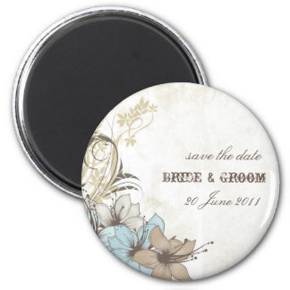 Western style save-the-date magnet