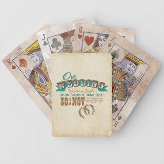 Western Style Wedding Custom Cards Poker Cards