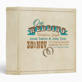 Western Style Wedding Planner or Album Binder