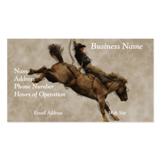 Western-style Western-style Bucking Bronco Cowboy Double-Sided Standard Business Cards (Pack Of 100)
