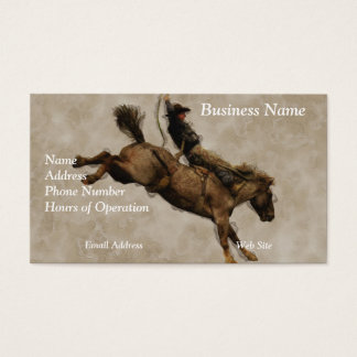Western-style Western-style Bucking Bronco Cowboy Business Card