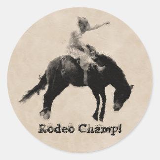 Western-style Western-style Bucking Bronco Cowboy Classic Round Sticker