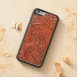 Western-styled Tooled-Leather-look on Wood Case Carved® Maple iPhone 6 Bumper Case