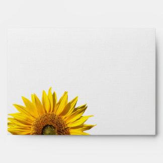 Western Sunflower and Burlap Envelope