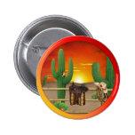 Western Sunrise 2 Inch Round Button