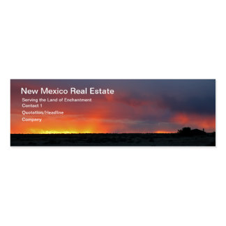 Western Sunset Double-Sided Mini Business Cards (Pack Of 20)
