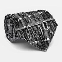 Western Tack Room Bridles Rope Print Necktie