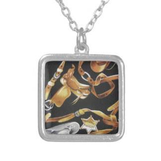 Western Tack Silver Plated Necklace