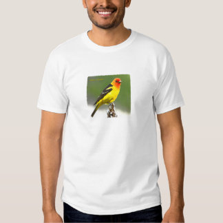 Western Tanager Art Logo Tee Shirt