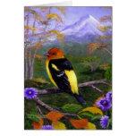 Western Tanager Bird Wildlife Creationarts Nature Card