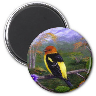 Western Tanager Bird Wildlife Creationarts Nature Magnet