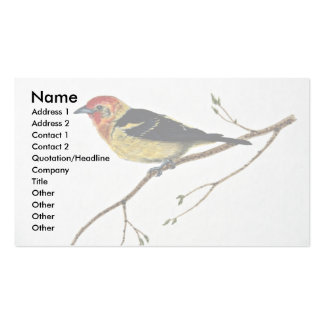 Western tanager business card