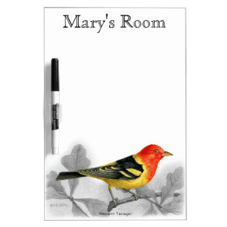 Western Tanager Dry-Erase Board