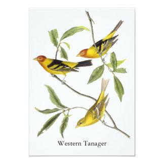 Western Tanager - John James Audubon Card