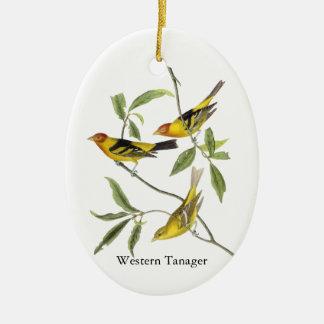 Western Tanager - John James Audubon Ceramic Ornament
