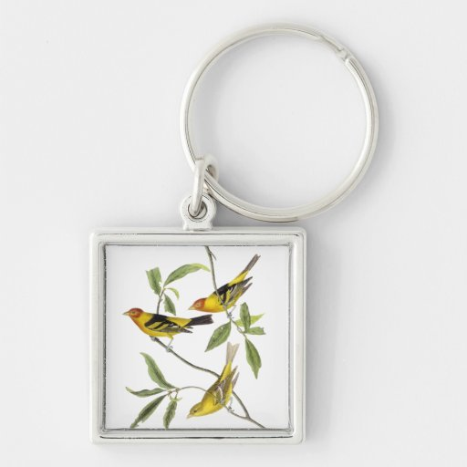 Western Tanager - John James Audubon Keychain