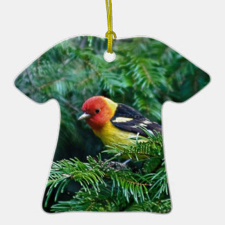 western Tanager Christmas Ornament