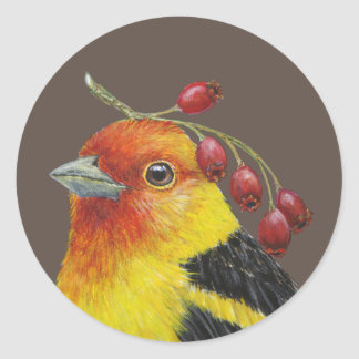 Western tanager stickers