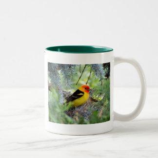 Western Tanager Two-Tone Coffee Mug