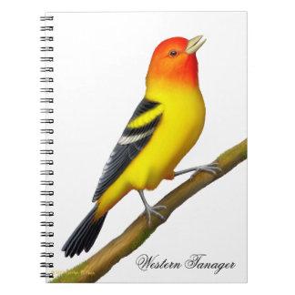 Western Tanager Wild Bird Notebook