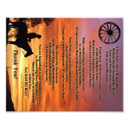 Western Teacher Appreciation Poem Print