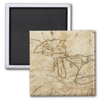 Western Territories of the United States 2 Inch Square Magnet