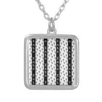Western Texas Longhorn Bulls CUSTOM NAME & COLOR Silver Plated Necklace