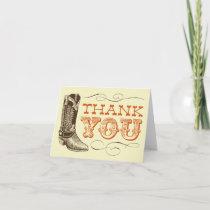 Western Thank You Cards (blank inside)