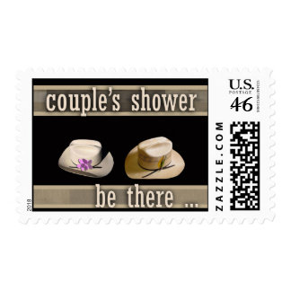 Western theme couple shower postage
