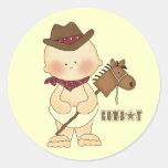 Western Theme Cute Baby Cowboy Fun Stickers