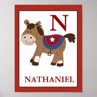 Western Theme Horse Nursery Print