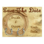 Western Theme Save the Date Postcard, Announcement