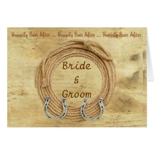 Western Theme Wedding Invitation Greeting Card