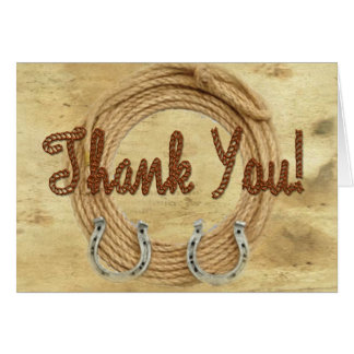Western Theme Wedding Thank you Card