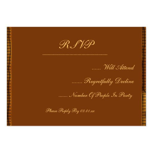 Western Theme with Boot & Hat Large Business Cards (Pack Of 100)