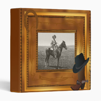 Western Theme with Boot & Hat Photo Template Binder