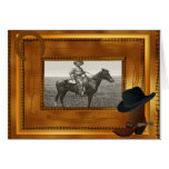Western Theme with Boot & Hat Photo Template Greeting Card