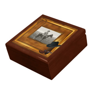 Western Theme with Boot & Hat Photo Template Gift Box