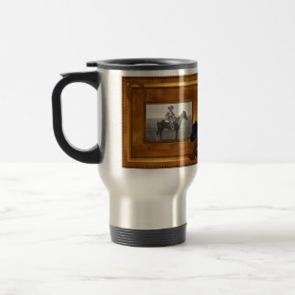 Western Theme with Boot & Hat Photo Template Travel Mug