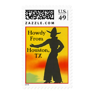 """Western Themed Cowboy """"Howdy"""" Silhoutte STAMPS"""